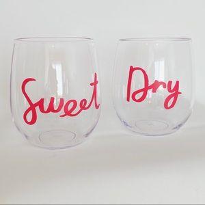 Kate Spade Stemless Wine Glass Set